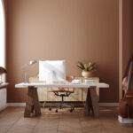 Work from home, home office, 3d render
